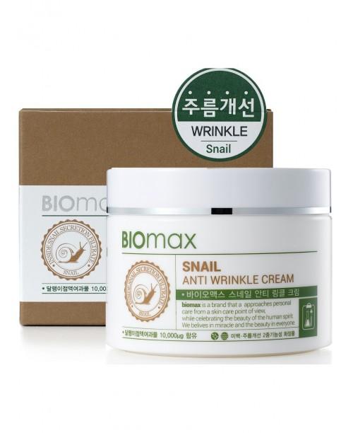 Крем с экстрактом слизи улитки против морщин, BIO max