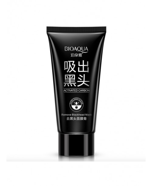Черная маска с активированным углем от черных точек и прыщей, Bioaqua